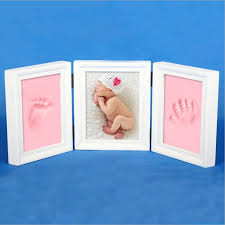 2018 large growing gift baby photo frame diy handprint or footprint soft clay safe non toxic best souvenir gift for baby photo al from dracaenor