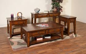 wood living room table sets