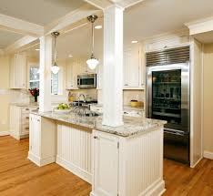 Kitchen Island Open Shelves Column In Kitchen Island Kitchen Transitional With Open Shelves