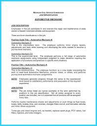 Best Ideas Of Resume Hydraulic Mechanic Automotive Technician Resume