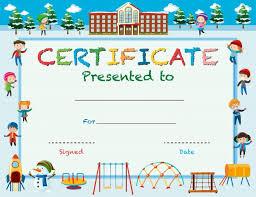School Certificates Template Kids Award Certificate Template Free