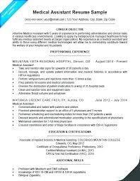 Resume Of A Medical Assistant Wikirian Com