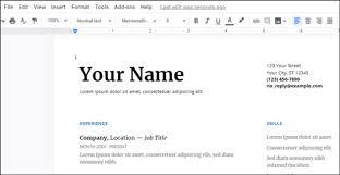Create Professional Looking Resume With Google Docs 3 Bonus