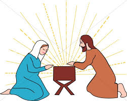 mary and joseph clip art.  Clip Mary And Joseph Beside The Manger With And Clip Art S