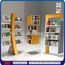 Wooden Book Stand For Display Fascinating Tsdw32 Custom Retail Store Rotating Wooden Book StandShop Display