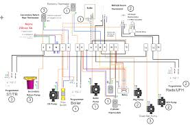 central heating boiler electrical wiring connection diagrams for honeywell thermostat wiring 2 wires at Central Heating Thermostat Wiring Diagram