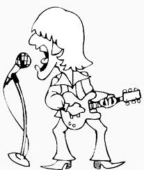 Small Picture Rock Star Coloring Pages