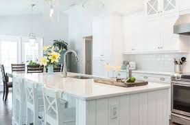white stone kitchen countertops.  Countertops Coastal Inspired Kitchen With White Stone Kitchen Countertops C