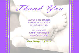Baby Gift Thank You Note Baby Shower Thank You Notes Wording Ideas Baby Shower Thank You