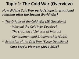 term grade caps history ppt video online  topic 1 the cold war overview
