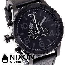 nixon watches jomashop blog video nixon 51 30 chronograh black dial leather mens watch a124001