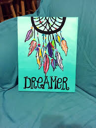 dreamer dreamcatcher canvas painting check out this adorable words of bliss custom creations are available