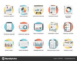 Pack Organization Chart Pack Organizational Graphs Charts Flat Icons Stock Vector