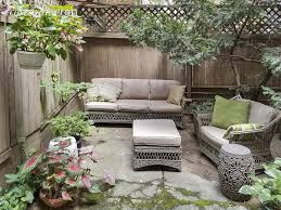 photo of back patio garden at 815 greenwich street in nyc apartment 1b