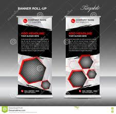 black roll up banner template vector flyer advertisement stock black roll up banner template vector roll up stand banner stock images