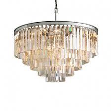 rh 1920s odeon clear glass fringe 5 tier 7 tier chandelier 35 39