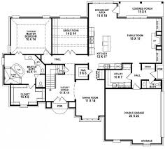 4 Bedroom Double Story House Plan  House Plan Ideas  House Plan 4 Bedroom Townhouse Floor Plans