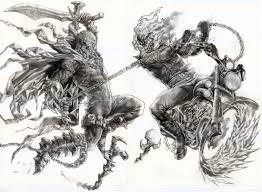 Spawn Vs Ghostrider By Wolfpact Deviantart