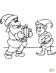 Santa Riding Reindeer Coloring Page Free Printable Coloring Pages