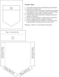 Pocket Template Paper Shirt Pocket Embroidery Paper Pocket Card