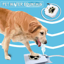 dog outdoor water fountain step on automatic hydration system drinking water