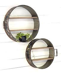love this round metal shelf set