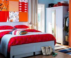 bedroom wall decorating ideas. Exquisite Home Interior Decoration Using Frame Wall Decor Ideas : Fair Picture Of Orange Bedroom Design Decorating