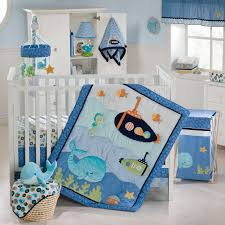 ... Brilliant Baby Nursery Animal Themes Design Inspiration Presents  Endearing Marine Theme Bedroom With Shining White Wooden ...