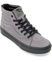 vans shoes black and grey. vans sk8 hi black \u0026 pewter boys skate shoes and grey