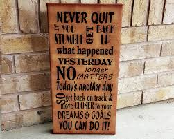 inspirational signs for office. Canada Day Sale Motivational Never Quit You Can Do It Subway Art Canvas Sign - Inspirational Quote Galllery Wrap Wall Office Wa Signs For Q