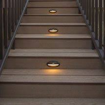outdoor stairway lighting. solar deck lights stair recessed riser led light by trex lighting outdoor stairway