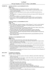 Technical Sales Resume Examples Technical Sales Representative Resume Samples Velvet Jobs