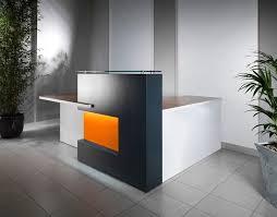 ikea reception desk with black