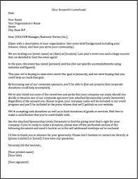 Sponsorship Request Letter For Event Letter Idea 2018