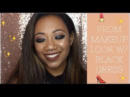 prom makeup look w black dress