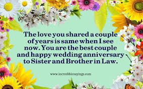 20 Best Collection Of Anniversary Wishes For Sister And Brother In Law