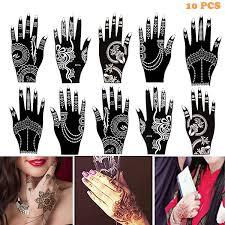 Amazoncom Henna Tattoo Stencil Templates Temporary Tattoo For