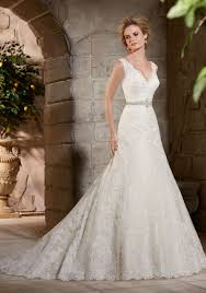 Lace Appliques On Net And Lace Wedding Dress Style 2783 Morilee