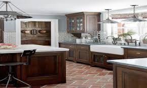 Kitchens With Brick Floors Kitchen Gray Brick Tile Kitchen Tiles Kitchen Dark Cabinets White