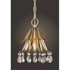 elk lighting naples antique silver leaf mini pendant