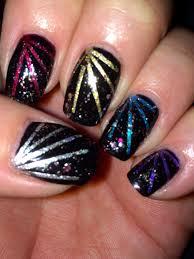 New Year Fingernail Designs Fireworks For New Years Fireworks Newyears Nails Nailart