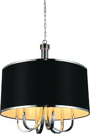 black drum shade pendant light inch 6 chrome chandelier black drum shade crystal