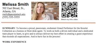 Enchanting Qr Code On Resume 31 About Remodel Free Resume Builder with Qr  Code On Resume