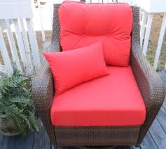 red outdoor seat cushions set for patio bistrodre porch
