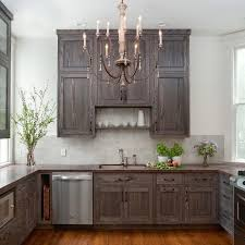 dark stained kitchen cabinets. Beautiful Grey Stained Kitchen Cabinets #2 - Dark-Gray Dark