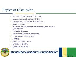 Department Of Property And Procurement Division Of
