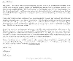 Cover Letter Sample For Sales Sarahepps Com