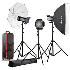 Godox Light Godox Qs600ii 3 Light Studio Flash Kit