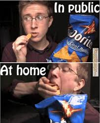 FunnyMemes.com • Funny memes - Eating Doritos in public via Relatably.com