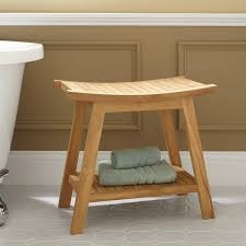 tandea teak shower stool  shower seats  bathroom accessories